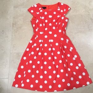 AGB Red Polka dotted dress